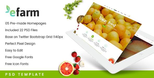 eFarm - A Modern PSD Template - Food Retail