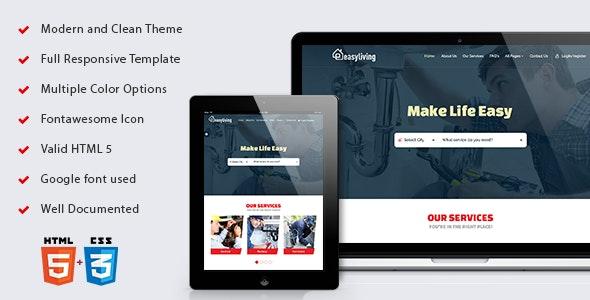 Easyliving - Home Maintenance, Repair Service Responsive HTML Template - Business Corporate