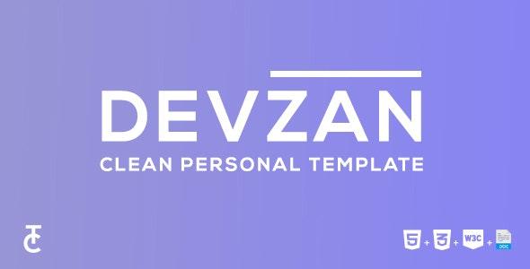 Devzan - Clean Personal HTML5 Template - Personal Site Templates