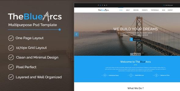 The BlueArcs - Photoshop UI Templates