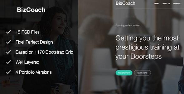 BizCoach - Busines Training, Coaching & Corporate PSD Template - Business Corporate
