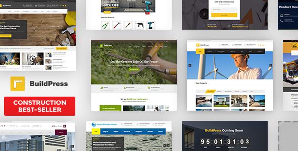 BuildPress - Multi-purpose Construction and Landscape WP Theme - Business Corporate