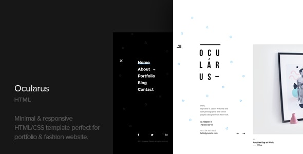 Ocularus - Minimal Photography Html Template - Photography Creative