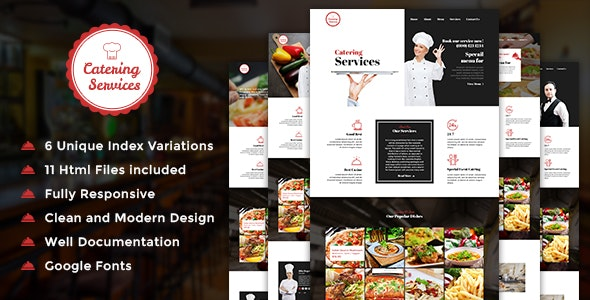 Catering - Restaurant HTML Template - Restaurants & Cafes Entertainment