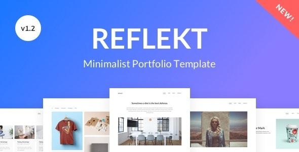 Reflekt - Minimalist Portfolio Template - Portfolio Creative