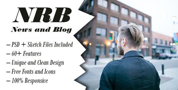 NRB | Blog / News, Psd + Sketch Template - Corporate Photoshop