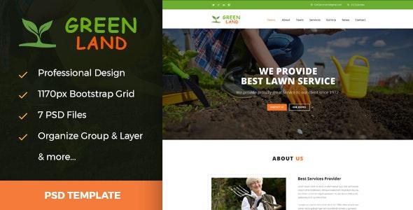 Greenland - Garden & Landscaping PSD Template - Business Corporate