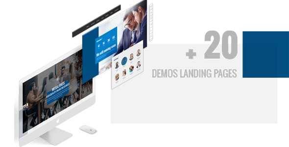Megaland - Multi Purpose Landing Page Template by PIXArtThemes