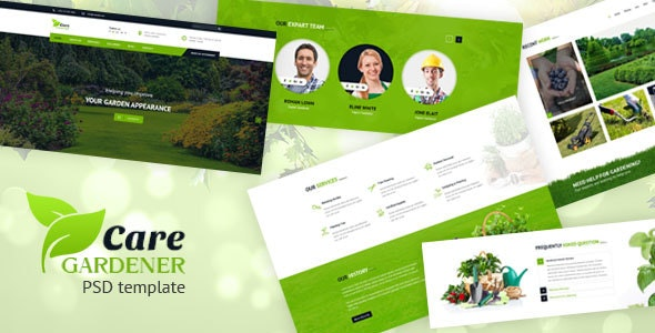 Care Gardner – Gardeneing and Landscaping PSD Template - Nonprofit Photoshop
