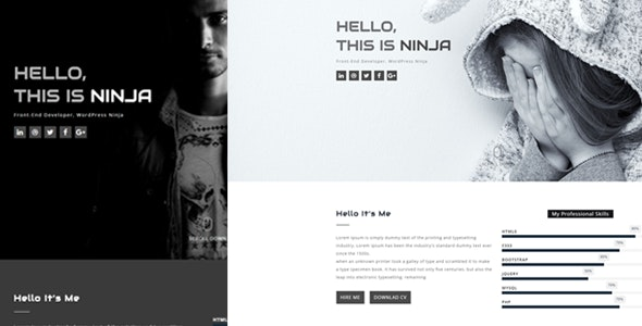 Rocks - One Page Personal Template - Portfolio Creative