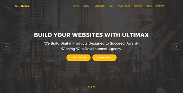 Ultimax OnePage Creative HTML Template - Creative Site Templates