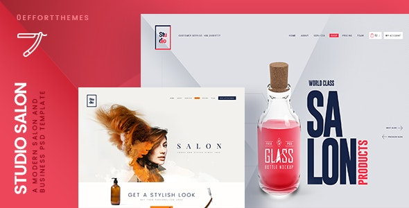 Studio Salon | A Modern Business PSD Template - Business Corporate