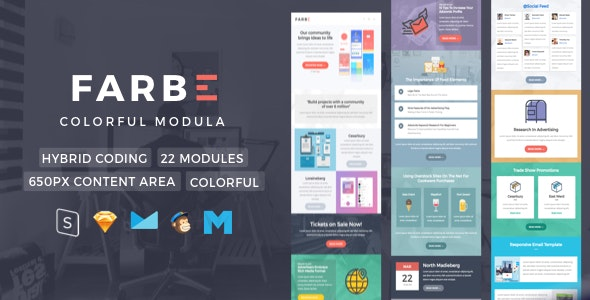 Farbe | Newsletter Template - Newsletters Email Templates