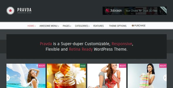 Pravda - Retina Responsive WordPress Blog Theme