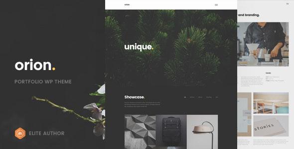 Orion - Minimal Portfolio WordPress Theme - Portfolio Creative