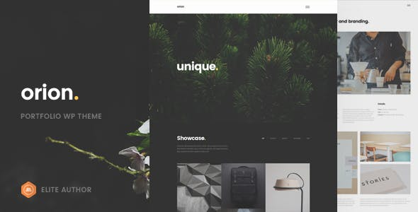Orion - Minimal Portfolio WordPress Theme