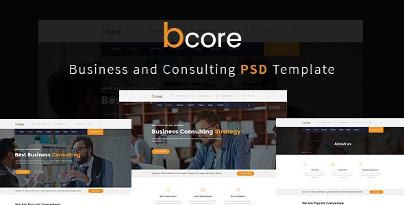 bcore - Business Consulting and Professional Services PSD Template - Business Corporate