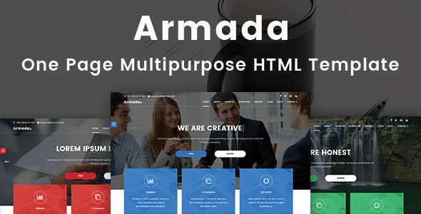 Armada - One Page Multipurpose Bootstrap Template - Corporate Site Templates