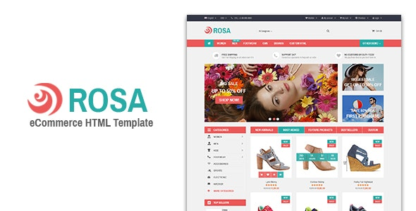 Rosa - Responsive eCommerce Template - Shopping Retail