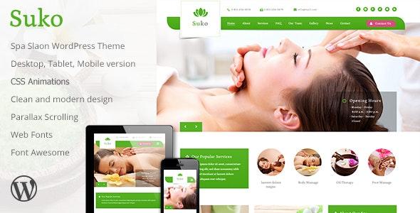 Suko - Spa Salon WordPress Theme - Health & Beauty Retail