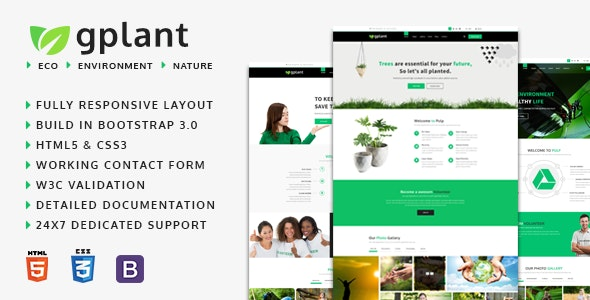 gPlant - Multipurpose ECO, Natural & Environmental HTML Template - Environmental Nonprofit