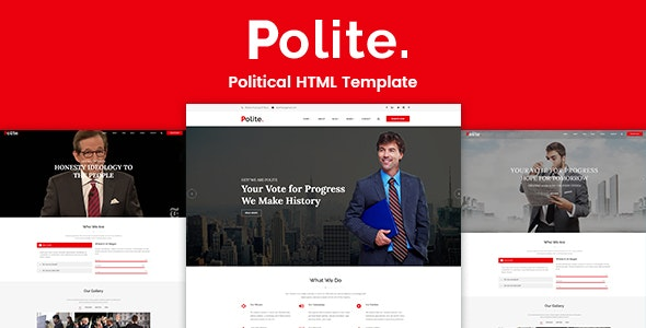 Polite – Political HTML Template - Political Nonprofit
