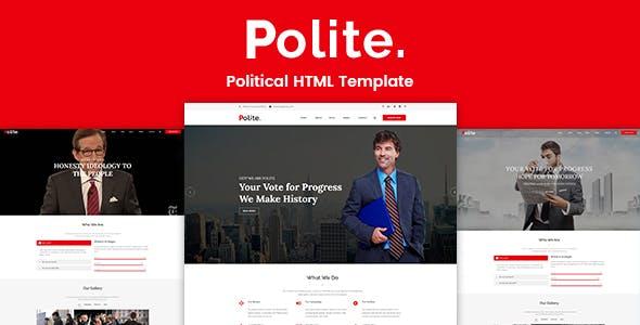 Polite Political Html Template
