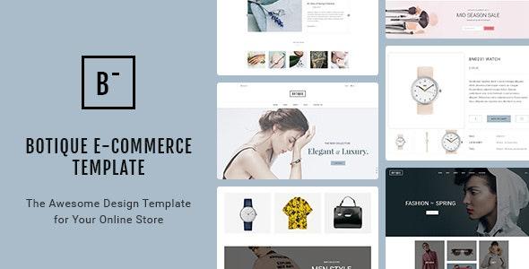 Botique - Responsive Multi-Purpose eCommerce PSD Template - Fashion Retail