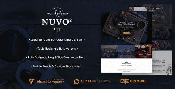 NUVO2 - Cafe & Restaurant WordPress Theme - Restaurants & Cafes Entertainment