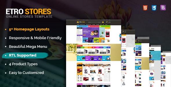 EtroStore - Responsive & Multi-Purpose HTML5 Template - Retail Site Templates