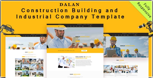 Dalan - Construction , Building and Industrial Company HTML5 Template - Business Corporate