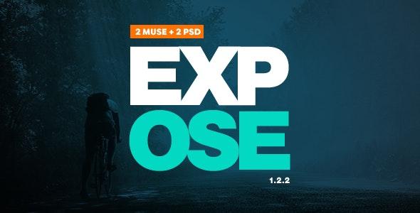 Expose - Muse Portfolio Template - Creative Muse Templates