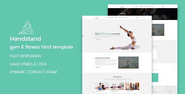 Handstand - Yoga and Fitness HTML Template - Health & Beauty Retail