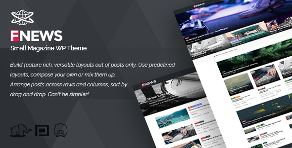 Small Magazine WP Theme - Blog / Magazine WordPress
