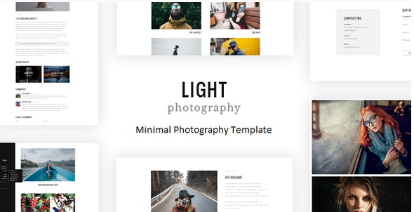Light - Minimal Photography Template - Photography Creative
