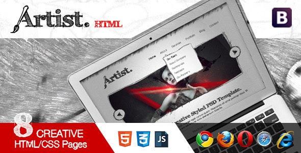 Artist Sketch Responsive HTML Template - Portfolio Creative