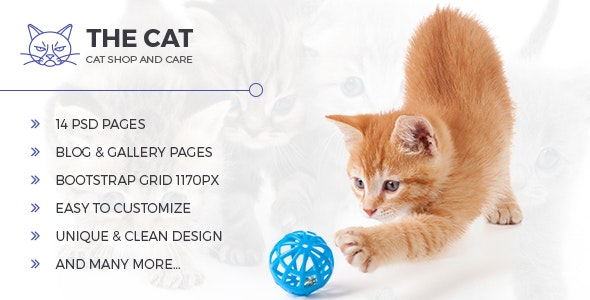The Cat - PSD Template for Pet Shop and Care Organisations - Miscellaneous Photoshop