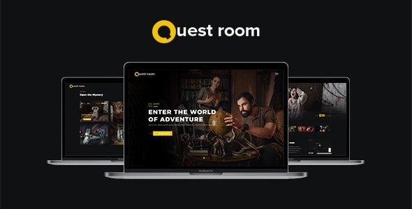 QuestRoom - Escape Room HTML Template - Entertainment Site Templates
