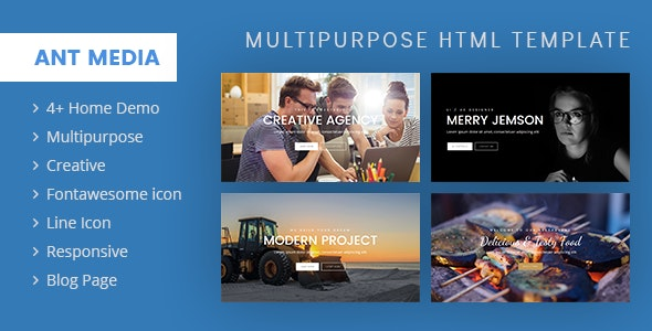 ANT Multipurpose Template - Business Corporate