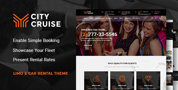 City Cruise - Limousine and Car Rental Theme - Business Corporate