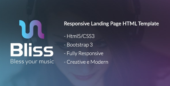 Bliss - Bootstrap Landing Page HTML Template - Creative Landing Pages