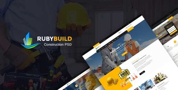 RubyBuild | Construction & Building PSD Template - Business Corporate