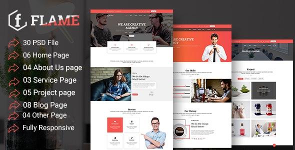 Multipurpose Corporate, Business, Agency PSD Template - Photoshop UI Templates