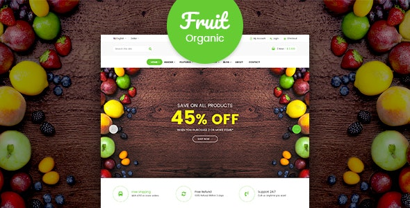 Fruit shop - Organic Food RTL Responsive Html Template - Retail Site Templates