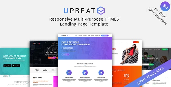 UpBeat - Responsive Multi-Purpose Landing Page - Business Corporate