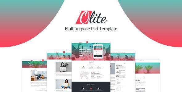 Olite Multipurpose PSD Template - Corporate Photoshop