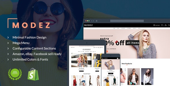 Modez - Minimal Fashion Responsive Shopify Theme - Sections Drag & Drop - Fashion Shopify