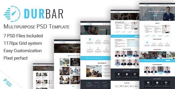 DURBAR - Multipurpose PSD Template - Corporate Photoshop