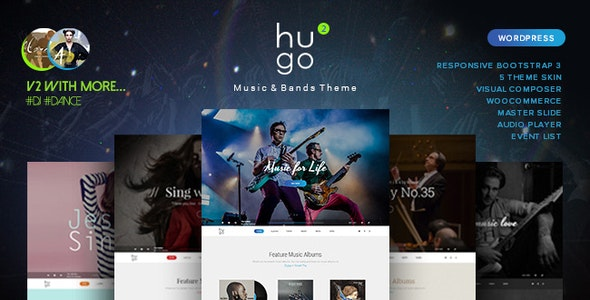 Hugo - Music / Artist / Singers / Bands WordPress - Music and Bands Entertainment