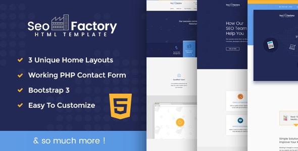 SEO Factory - Digital Marketing Agency HTML Template - Marketing Corporate